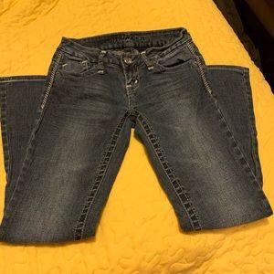 2/$15 Wishful Park Juniors Size 3 Blue Jeans EUC